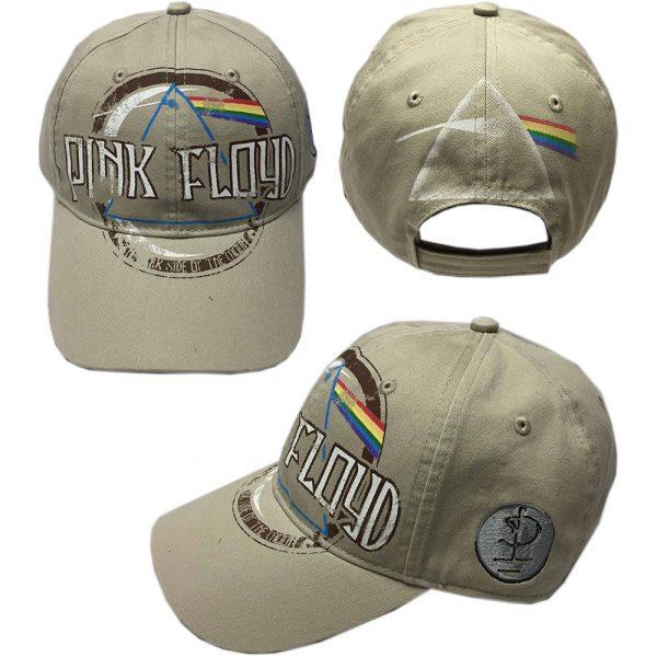 Pink Floyd Baseball Cap: Dark Side of the Moon Album Distressed (Sand)