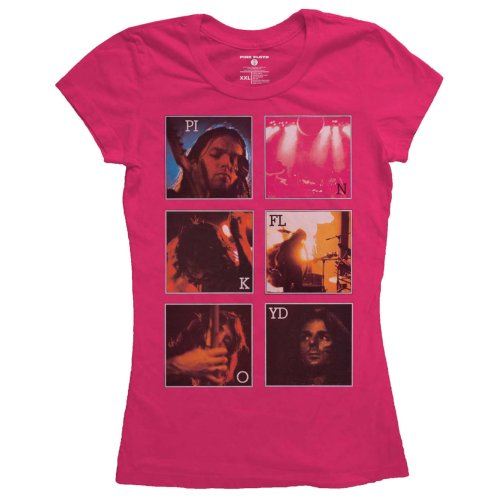 Pink Floyd Ladies Fashion T-Shirt: Live Poster (X-Large)