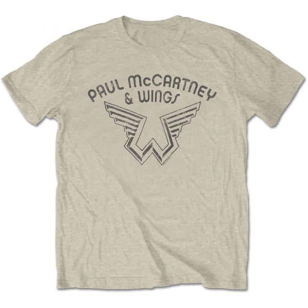 Paul McCartney Mens T-Shirt: Wings Logo (XX-Large)