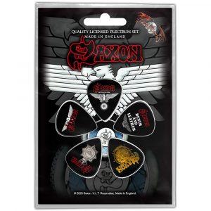 Saxon Plectrum Pack: Wheels Of ST-Shirtl