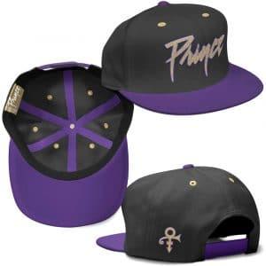 Prince Unisex Snapback Cap: Gold Logo & Symbol