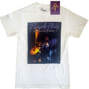 Prince Mens T-Shirt: Purple Rain Square (X-Large)