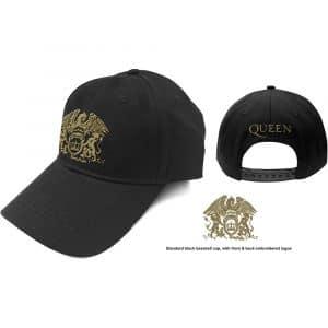 Queen Baseball Cap: Gold Classic Crest