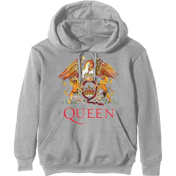 Queen Mens Pullover Hoodie: Classic Crest (XXX-Large)