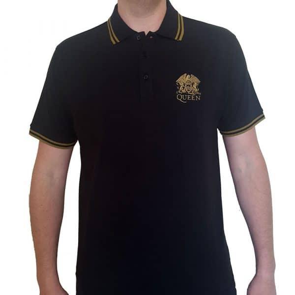 Queen Mens Polo Shirt: Crest Logo (XX-Large)