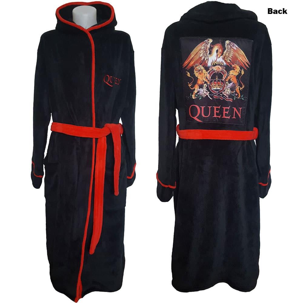 Queen Unisex Bathrobe: Classic Crest (Large - X-Large)