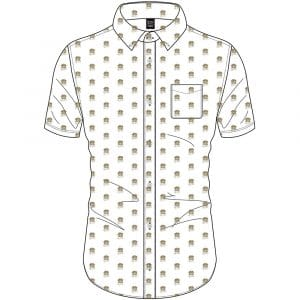 Queen Mens Casual Shirt: Crest Pattern (All Over Print) (XX-Large)