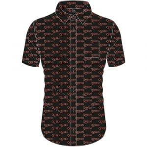 Queen Mens Casual Shirt: Logo Pattern (All Over Print) (XX-Large)