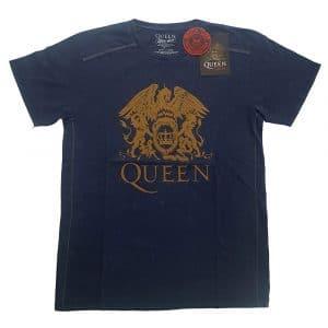 Queen Mens T-Shirt (Snow Wash): Classic Crest (XX-Large)