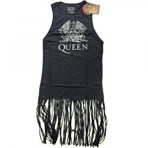 Queen Ladies T-Shirt Dress: Crest Vintage (Tassels) (XX-Large)