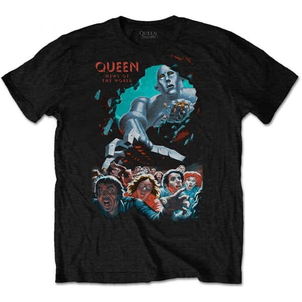 Queen Mens T-Shirt: News Of The World Vintage (XX-Large)
