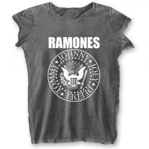 Ramones Ladies T-Shirt: Presidential Seal (Burn Out) (XX-Large)