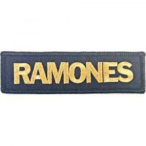 Ramones Standard Patch: Gold Logo