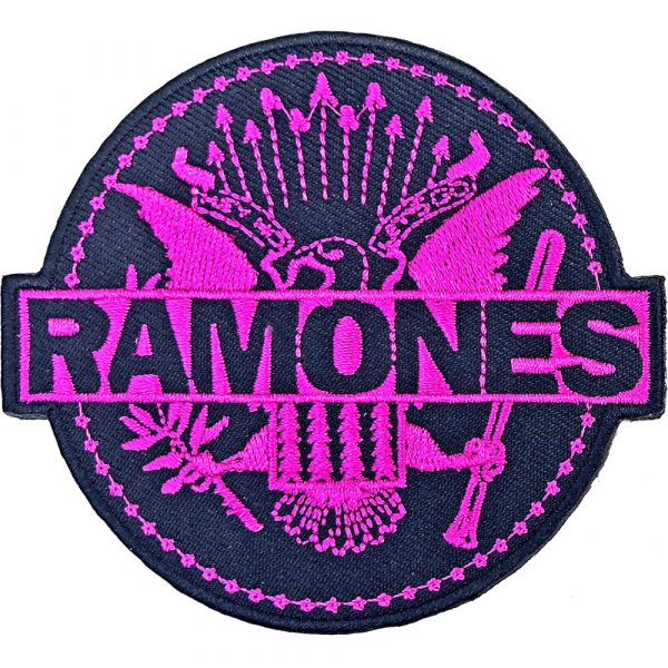 Ramones Standard Patch: Pink Seal