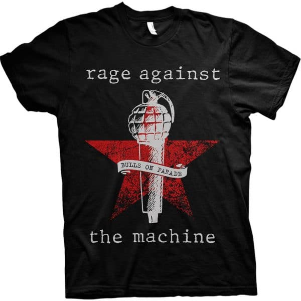 Rage Against The Machine Mens T-Shirt: Bulls on Parade Mic (XX-Large)