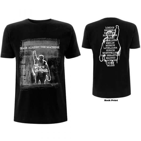 Rage Against The Machine Mens T-Shirt: BOLA Euro Tour (Back Print) (XX-Large)