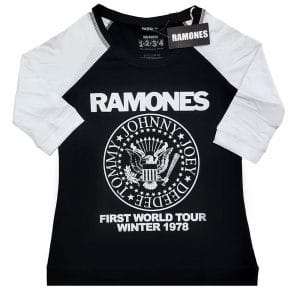 Ramones Ladies Raglan T-Shirt: First World Tour 1978 (XXXX-Large)