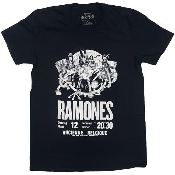 Ramones Mens T-Shirt: Belgique (XX-Large)