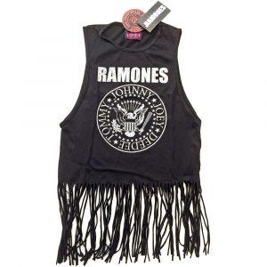 Ramones Ladies T-Shirt Vest: Vintage Presidential Seal (Tassels) (XX-Large)