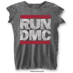 Run DMC Ladies T-Shirt: DMC Logo (Burn Out) (XX-Large)