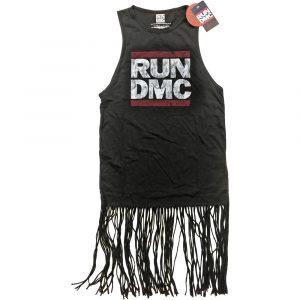 Run DMC Ladies T-Shirt Dress: Logo Vintage (Tassels) (XX-Large)