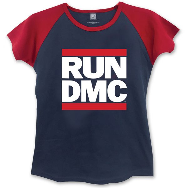 Run DMC Ladies Fashion T-Shirt: Logo (Skinny Fit) (Large)