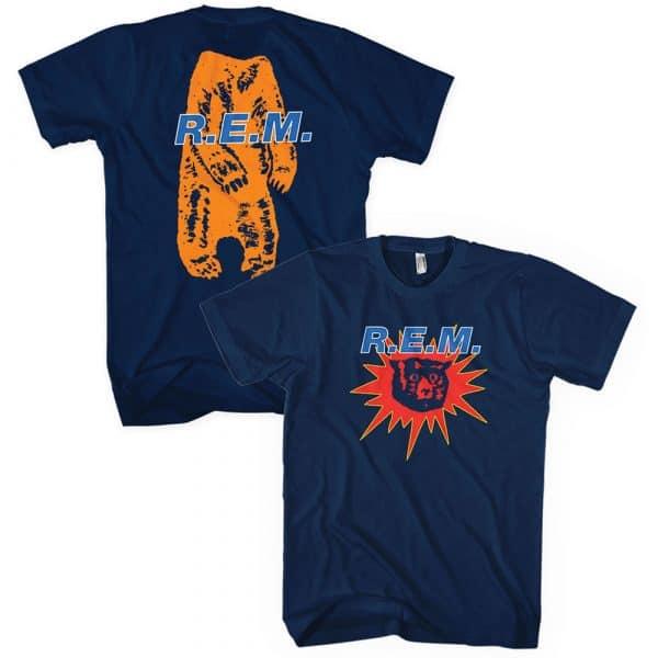 R.E.M. Mens T-Shirt: Bear Burst (Back Print) (XX-Large)