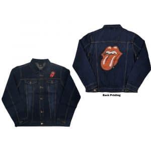 The Rolling Stones Mens Denim Jacket: Classic Tongue (Back Print) (XX-Large)