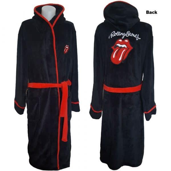 The Rolling Stones Unisex Bathrobe: Classic Tongue (Large - X-Large)