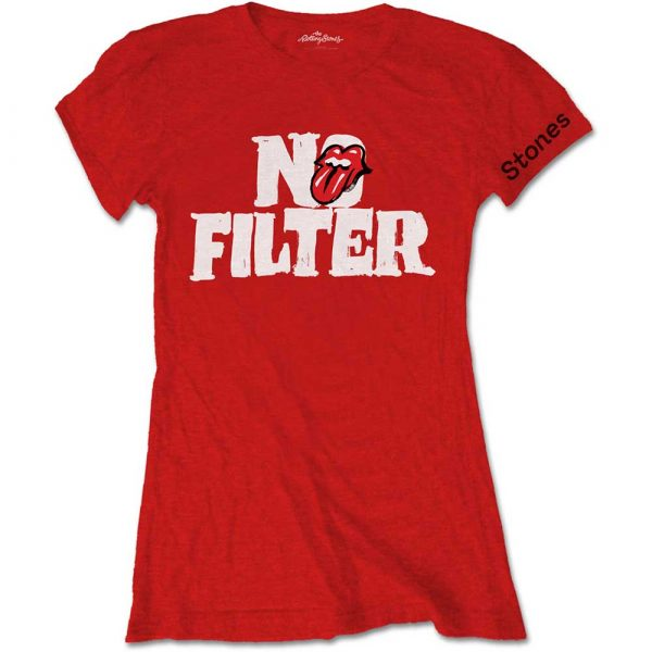 The Rolling Stones Ladies T-Shirt: No Filter Header Logo (XX-Large)