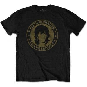 The Rolling Stones Mens T-Shirt: Keith for President (XX-Large)
