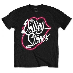 The Rolling Stones Mens T-Shirt: Neon Lips