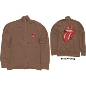 The Rolling Stones Mens Track Top: Classic Tongue (Back Print) (XX-Large)