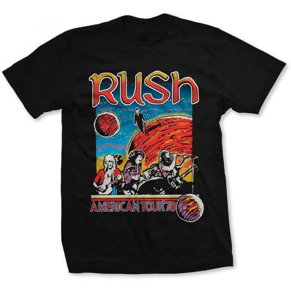 Rush Mens T-Shirt: US Tour 1978 (XX-Large)