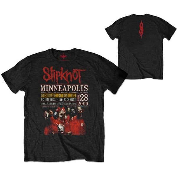 Slipknot Mens Eco-T-Shirt: Minneapolis '09 (Back Print) (XX-Large)