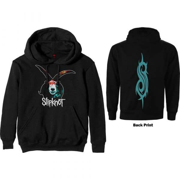 Slipknot Mens Pullover Hoodie: Graphic Goat (Back Print) (XXX-Large)