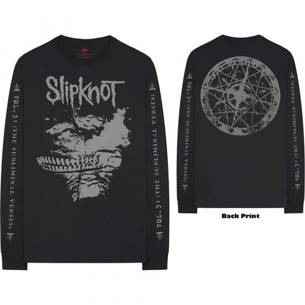 Slipknot Mens Long Sleeved T-Shirt: Subliminal Verses (Back & Arm Print) (XX-Large)