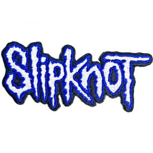 Slipknot Standard Patch: Cut-Out Logo Blue Border