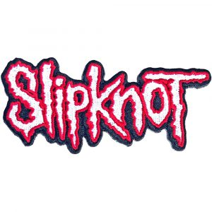 Slipknot Standard Patch: Cut-Out Logo Red Border