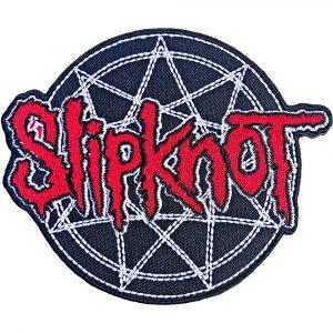 Slipknot Standard Patch: Red Logo Over Nonogram
