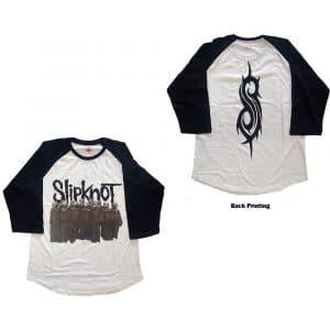Slipknot Mens Raglan T-Shirt: Choir (Back Print) (X-Large)