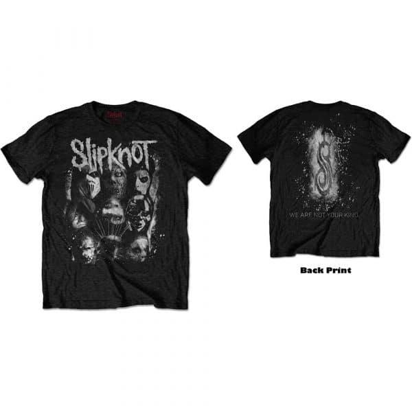 Slipknot Mens T-Shirt: WANYK White Splatter (Back Print) (XX-Large)