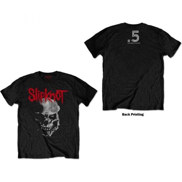 Slipknot Mens T-Shirt: Gray Chapter Skull (Back Print) (XX-Large)