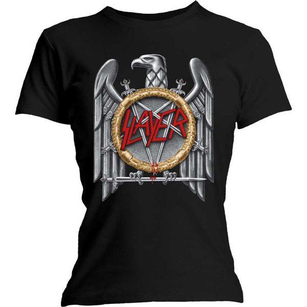 Slayer Ladies T-Shirt: Silver Eagle (XXX-Large)