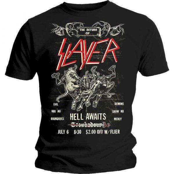 Slayer Mens T-Shirt: Vintage Flyer (XX-Large)