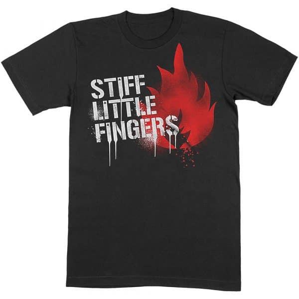 Stiff Little Fingers Mens T-Shirt: Graffiti (XX-Large)