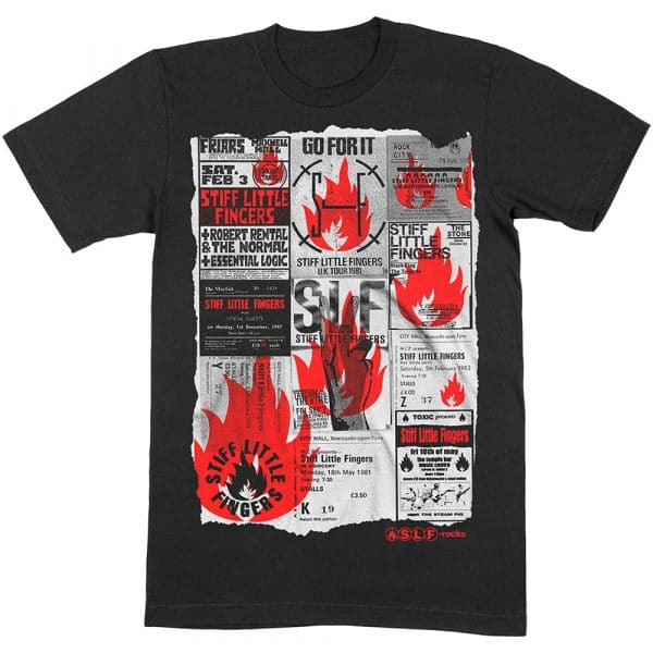 Stiff Little Fingers Mens T-Shirt: Flyer (XX-Large)