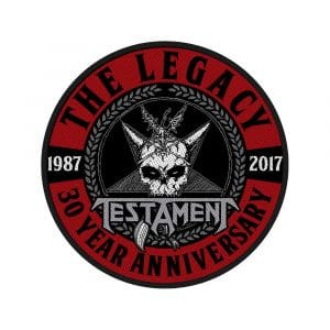 Testament Standard Patch: The Legacy 30 Year Anniversary
