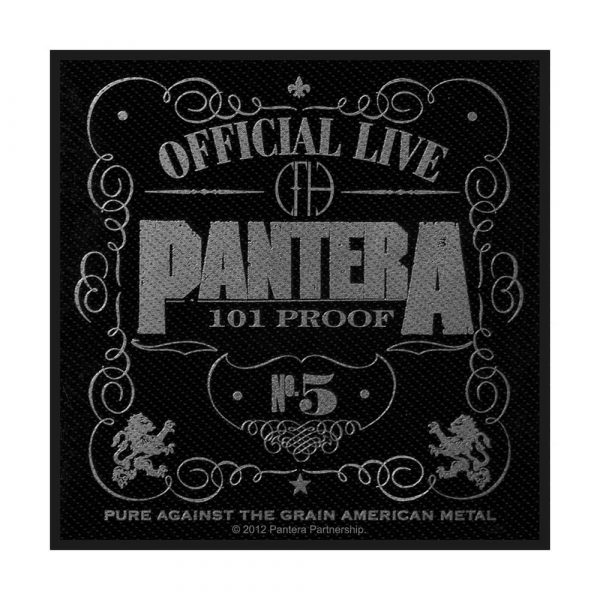 Pantera Standard Patch: 101% Proof (Retail Pack)