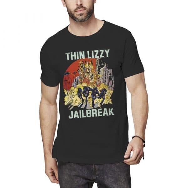 Thin Lizzy Mens T-Shirt: Jailbreak Explosion (XX-Large)